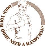 handyman royalty ilustracja