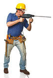 Handyman in action Royalty Free Stock Image
