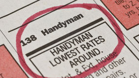 Handyman Ad Royalty Free Stock Photo