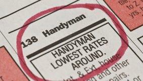 Handyman Ad Royalty Free Stock Photo