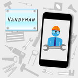 Handyman advertising background  Royalty Free Stock Images