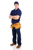 Handyman arms crossed. Smiling young handyman with arms crossed Stock Photography