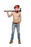 Handyman with ax Stock Photography