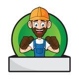 Handyman Badge Giving Thumbs Up Royalty Free Stock Image