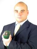 Handyman Bond. Bond pose with drill royalty free stock image
