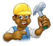 Handyman Carpenter Hammer Man Royalty Free Stock Photo