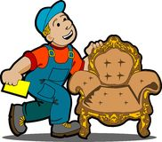 Handyman cartoon. Stock Photos