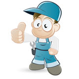 Handyman cartoon character Royalty Free Stock Photo