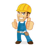 Handyman giving thumbs up Stock Photography