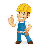 Handyman giving thumb up Stock Photos