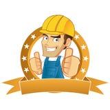 Handyman giving thumbs up Stock Photo