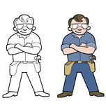 Handyman cartoon Royalty Free Stock Image