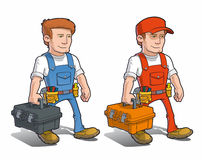 Handyman - Carying Toolkit Royalty Free Stock Photo