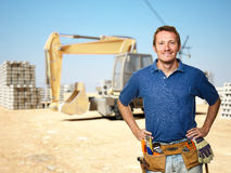 Handyman at construction site Stock Photography