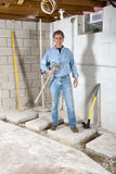 Handyman Contractor Construction, Smiling Worker Royalty Free Stock Image