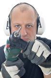 Handyman with drill Stock Images