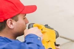 Handyman drilling Stock Photography