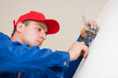 Handyman in duty Stock Image