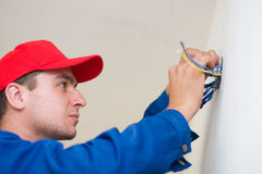 Handyman in duty Royalty Free Stock Photo