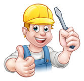 Handyman Electrician With Screwdriver Royalty Free Stock Photography
