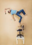 Handyman falling from height Royalty Free Stock Photos