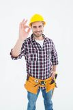Handyman gesturing okay Royalty Free Stock Photography