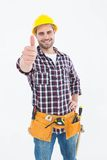 Handyman gesturing thumbs up Royalty Free Stock Photos