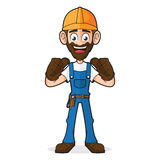 Handyman Giving Thumbs Up Stock Photo