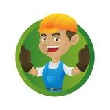 Handyman giving thumbs up Stock Photography