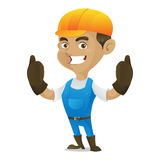 Handyman giving thumbs up Royalty Free Stock Images