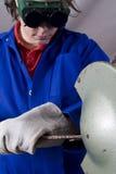 Handyman grinder Royalty Free Stock Photography