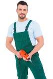 Handyman holding power drill Stock Photos