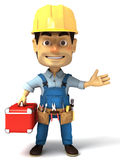 Handyman holding tools box Stock Image