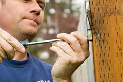 Handyman home repair projects Royalty Free Stock Images