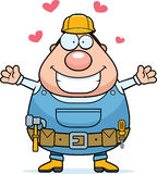 Handyman Hug Royalty Free Stock Photos