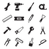 Handyman Icons Stock Photo