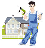 Handyman illustration Stock Images