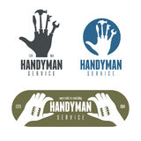 Handyman logos, emblems, badges in vintage style Royalty Free Stock Image