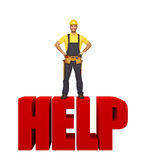 Handyman offer his help Royalty Free Stock Photography