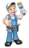 Handyman Painter Decorator Holding Paintbrush Stock Photography