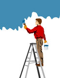 Handyman painting royalty free stock photography