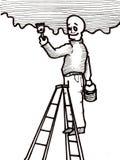 Handyman Painting Stock Image