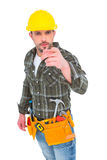 Handyman pointing at you Stock Photos