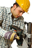 Handyman portrait Stock Photos
