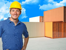 Handyman portrait Royalty Free Stock Image