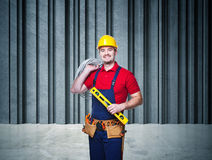 Handyman portrait Stock Photo