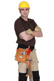 An handyman posing Royalty Free Stock Image