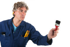 Handyman ready for the job Stock Photo