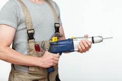 Handyman ready to work Stock Photo