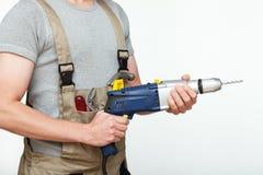 Handyman ready to work stock photo